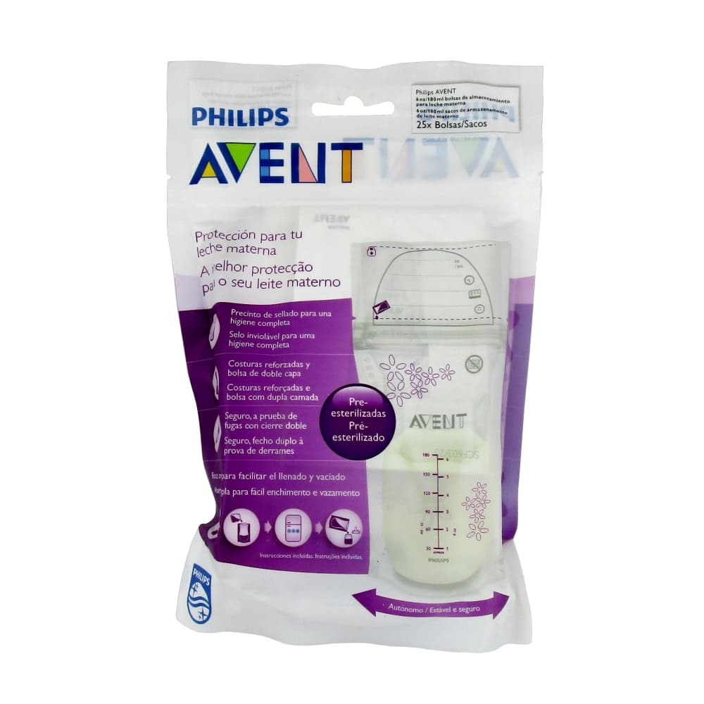 AVENT Пакеты для хранения молока 180мл 25шт, scf603/25