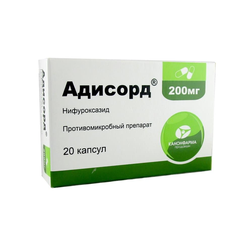 Адисорд капсулы 200 мг, 20 шт