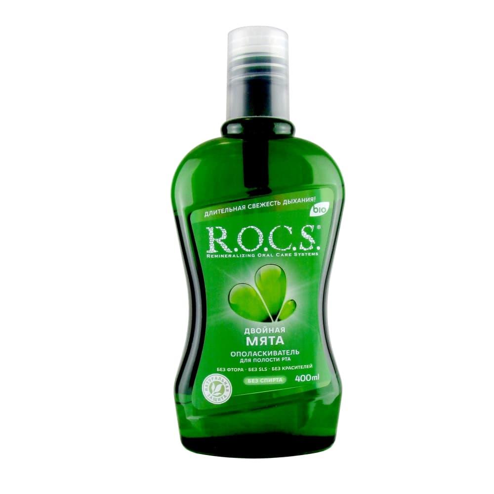 ROCS Ополаскиватель для полости рта Двойная мята 400 мл.