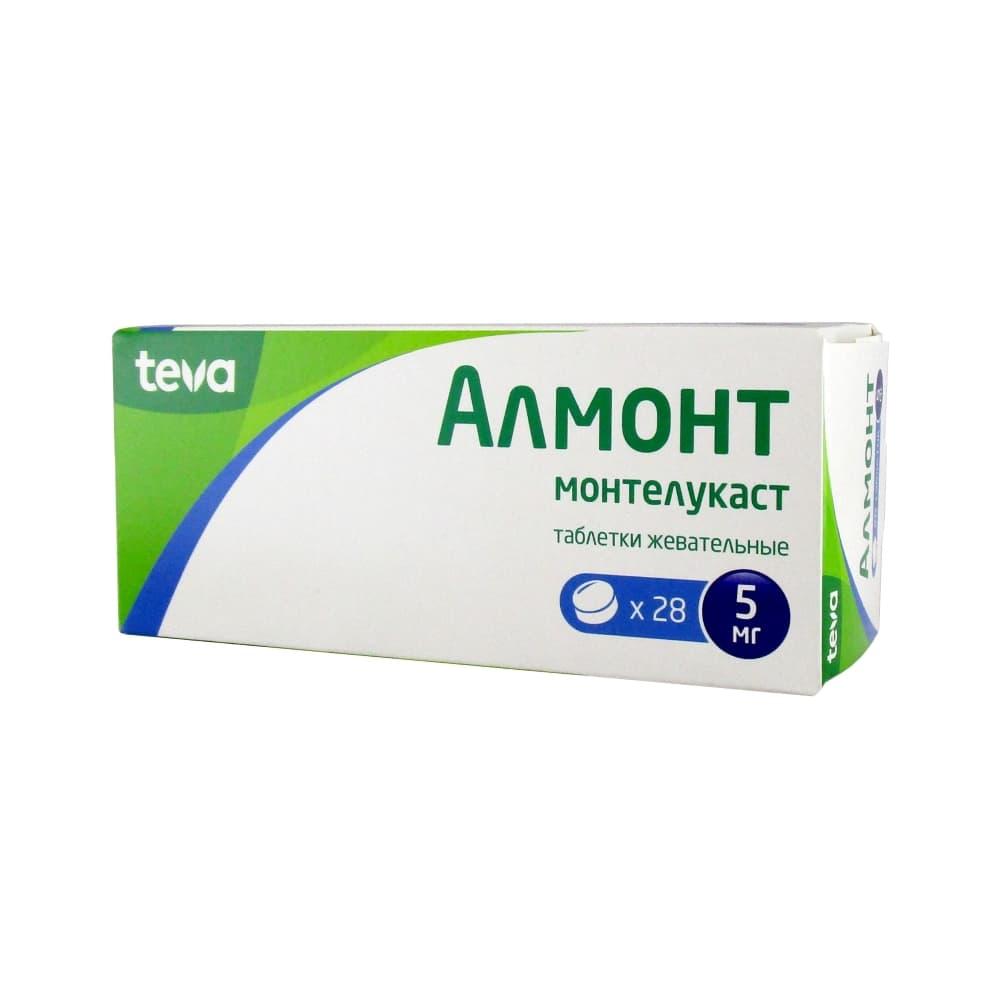 Алмонт таблетки жев. 5 мг, 28 шт.
