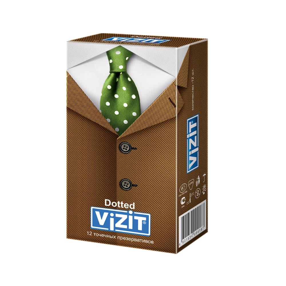 VIZIT Презервативы точечные, 12 шт.
