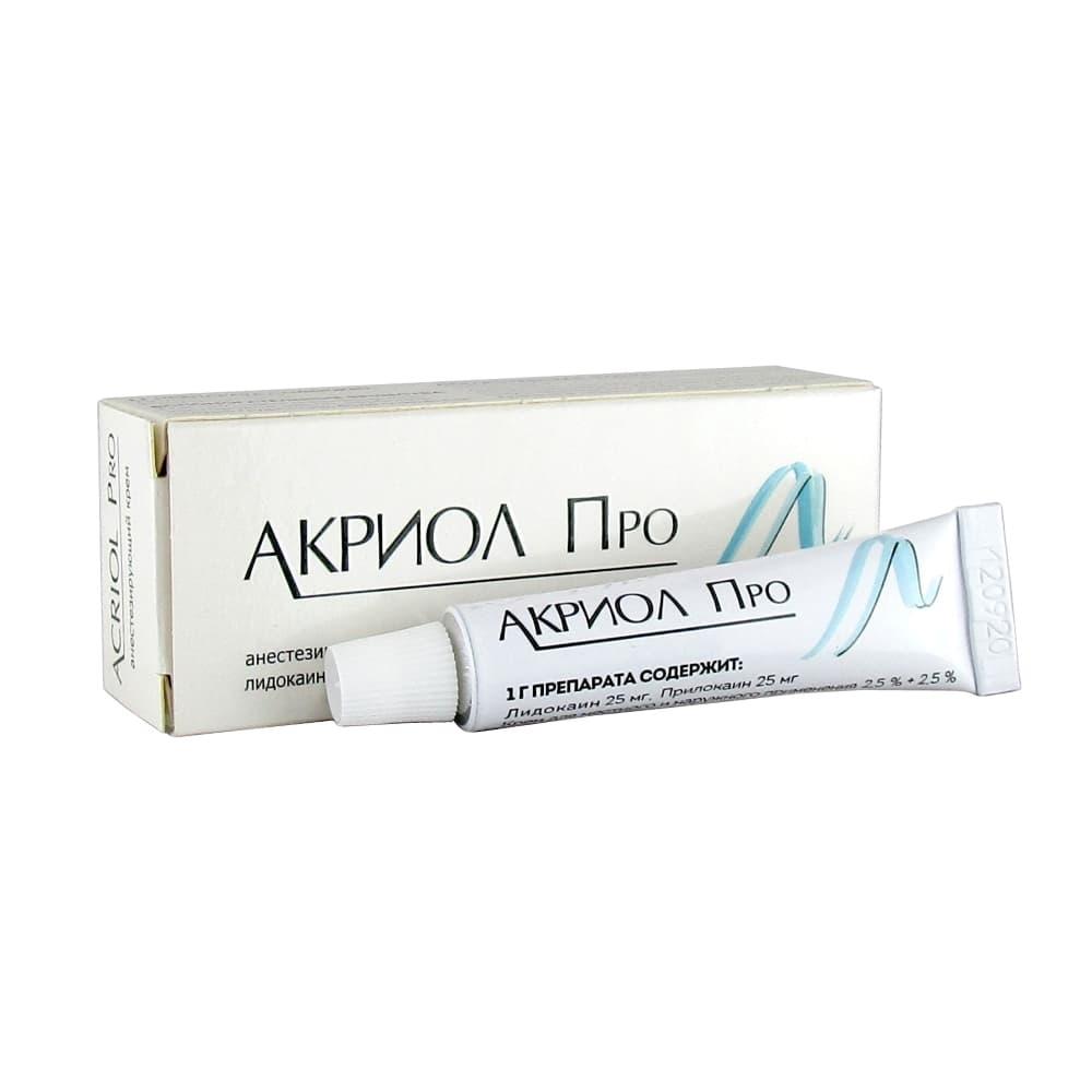 Акриол Про крем для местн. и наруж. прим. 2,5% + 2,5%, 5гр.