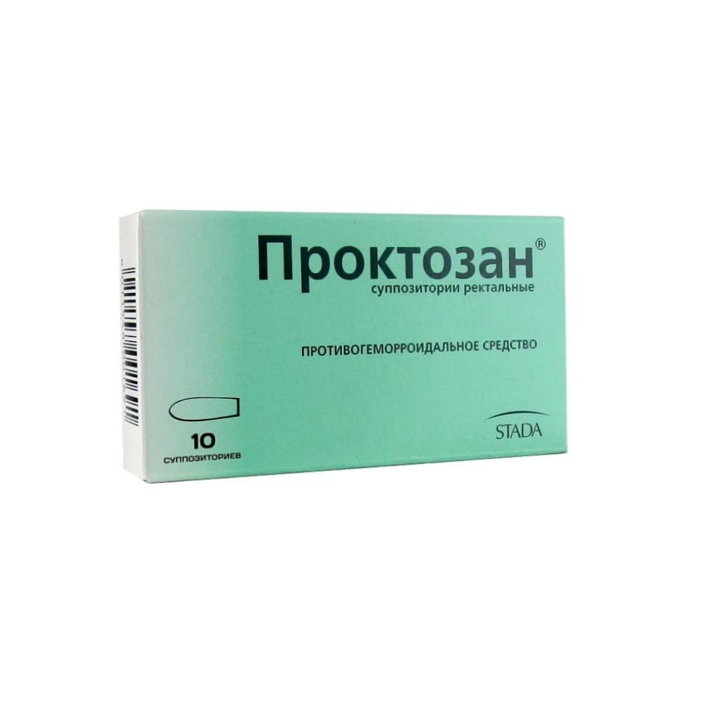 Проктозан суппозитории рект., 10 шт