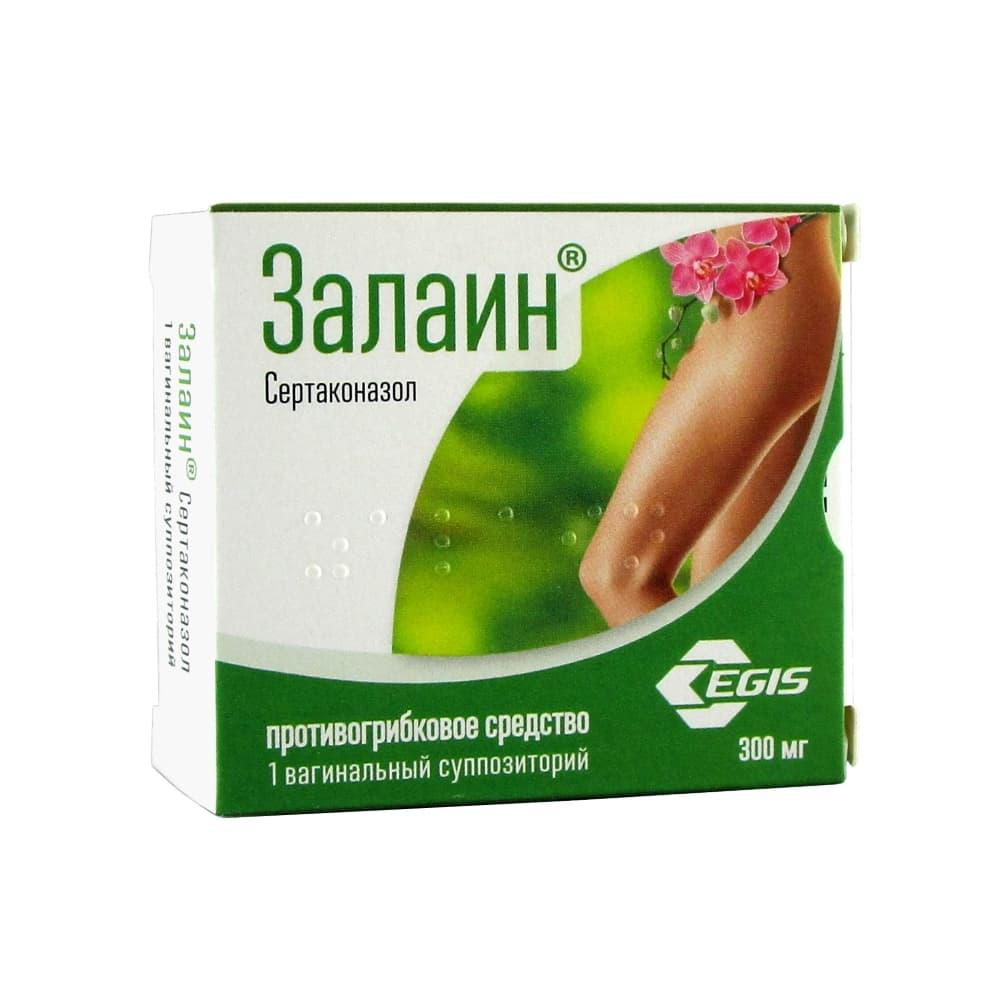 Залаин суппозитории ваг. 300 мг, 1 шт