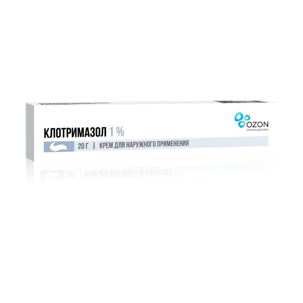Клотримазол крем 1 %, 20 гр
