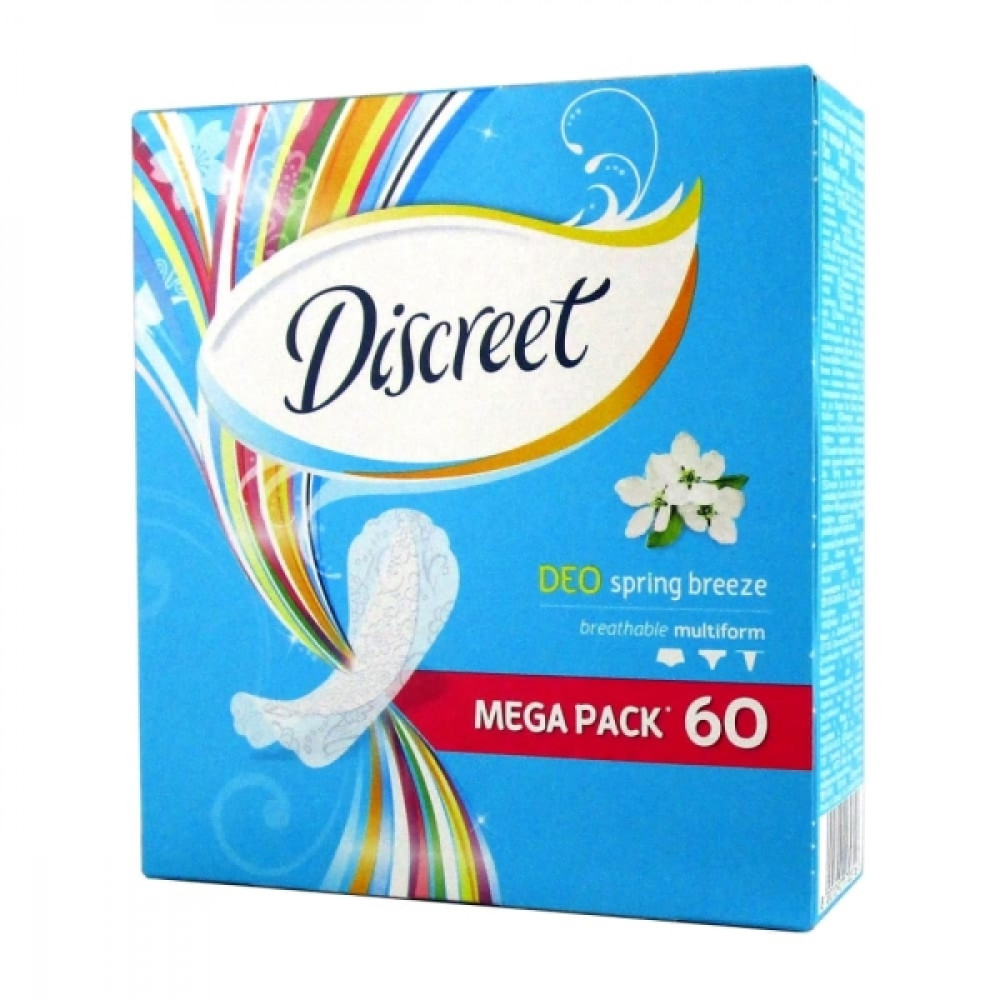 Discreet Прокладки ежедневные Spring breeze Multiform, 60 шт.