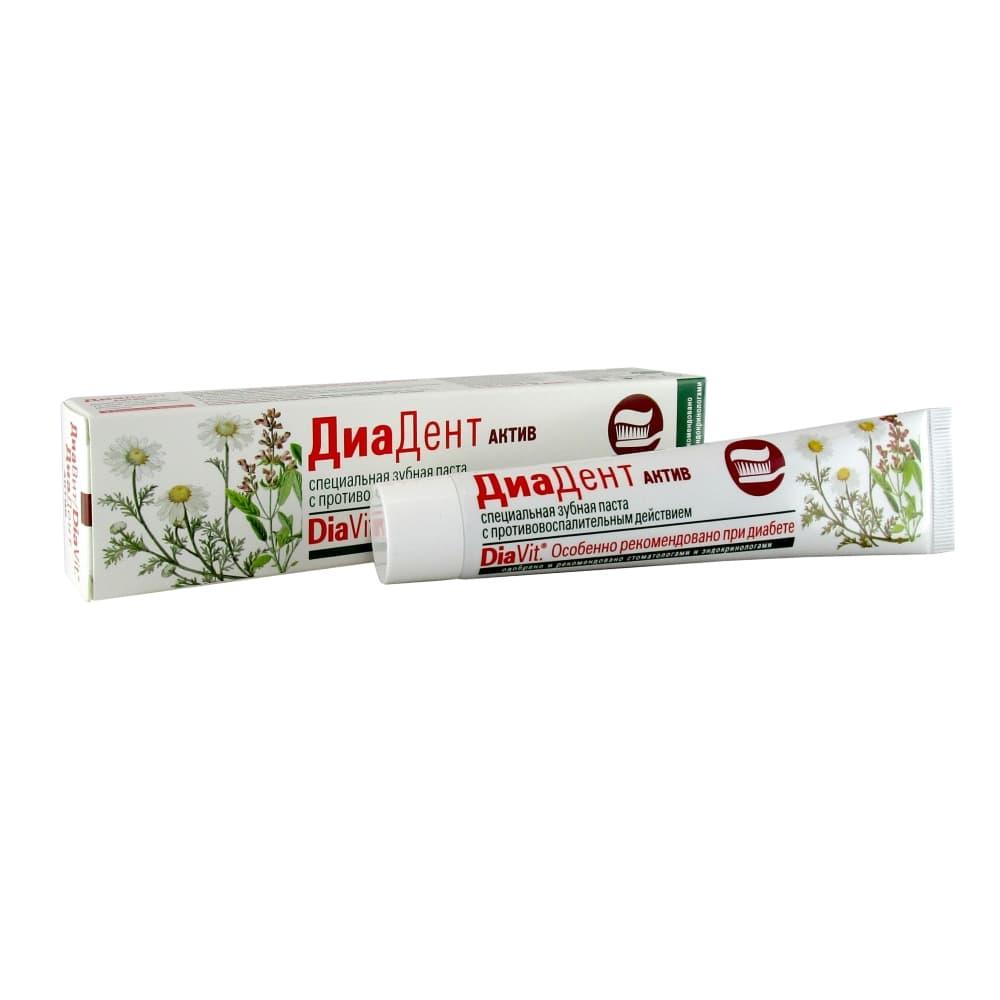 DiaVit ДиаДент Зубная паста актив, 50 мл
