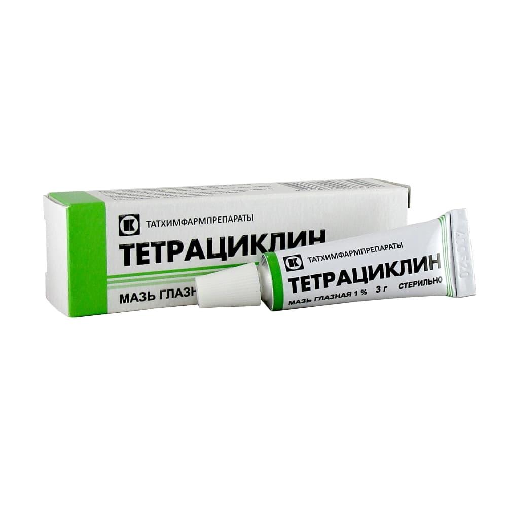 Тетрациклин мазь глазная 1%, 3гр.