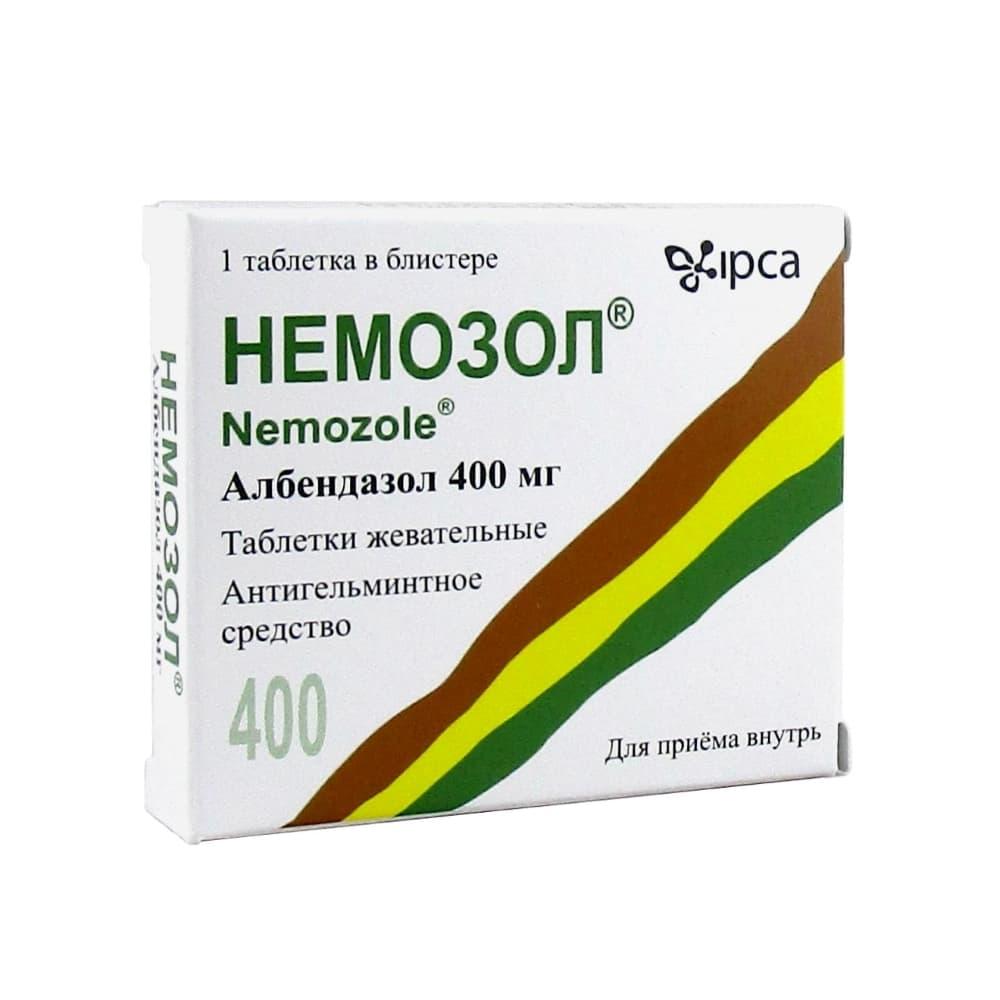 Немозол табл.жев. 400 мг, 1 шт