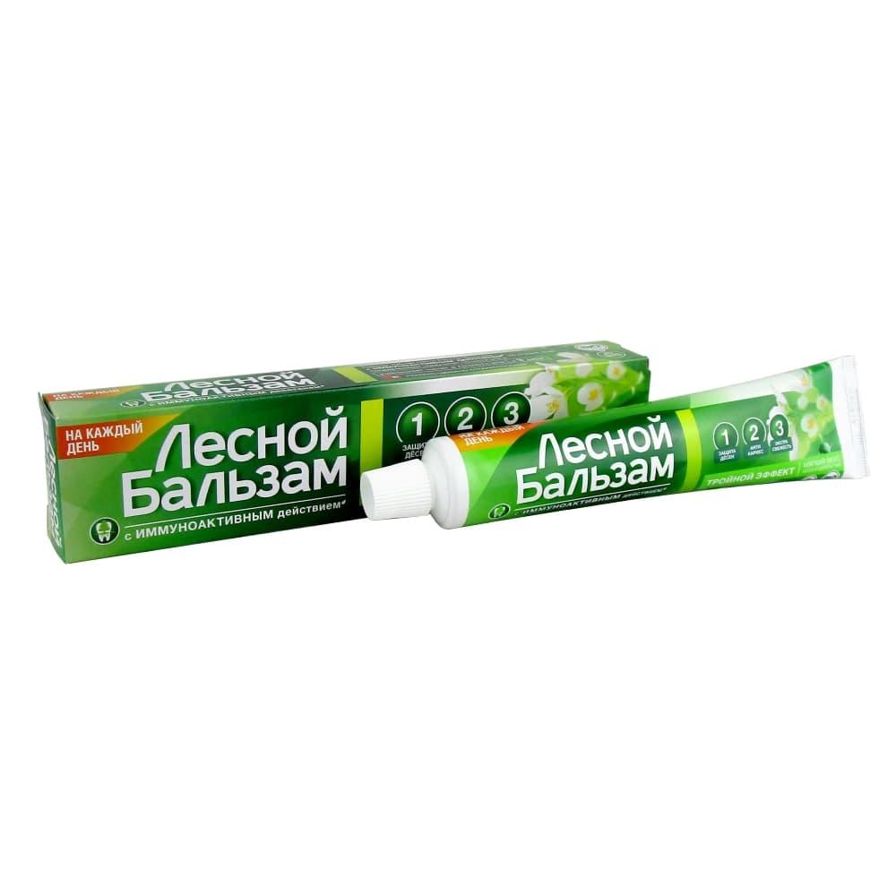 Лесной бальзам зубная паста для укрепления десен Алоэ вера / белый чай, 75 мл.