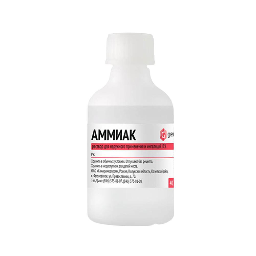 Аммиак раствор для наруж.применения 10%, 100 мл.