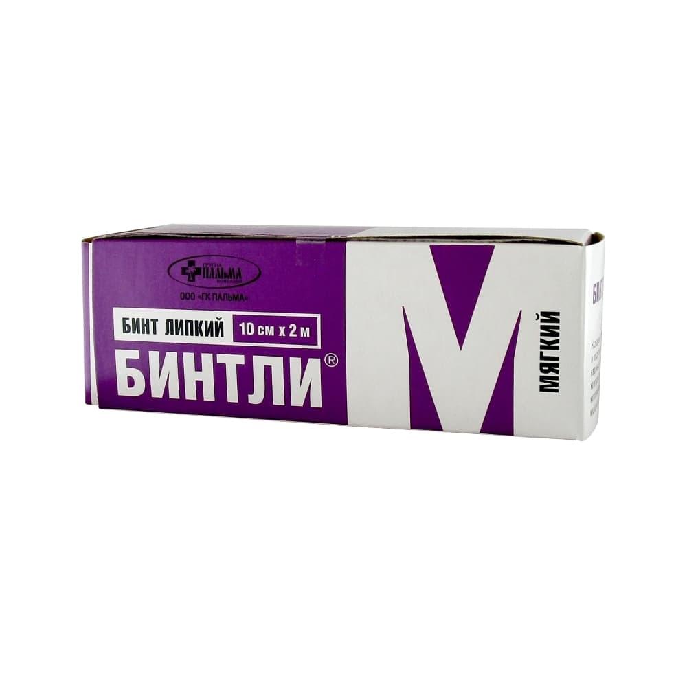 Бинт липкий Бинтли-М нетканый для фиксир.повязок, мягкий, 10х200см