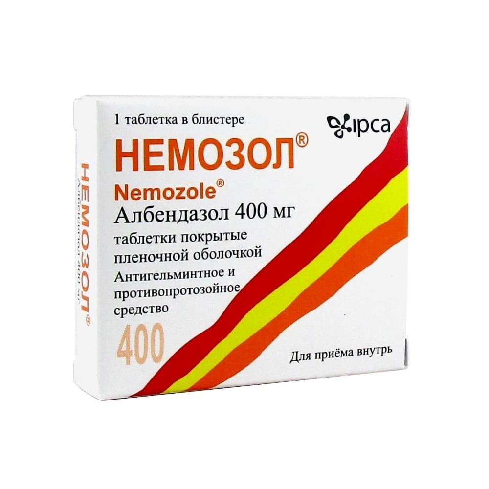 Немозол таблетки 400 мг, 1 шт