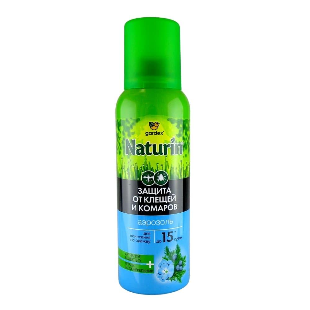 Gardex Naturine Аэрозоль от клещей и комаров для нанесения на одежду, 100 мл