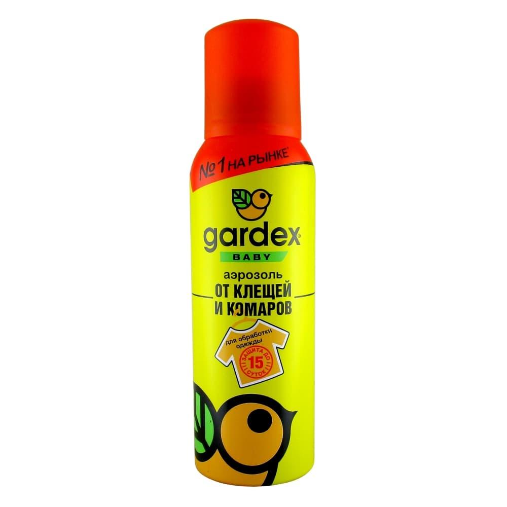 Gardex Baby Аэрозоль от клещей и комаров, для обработки одежды, 100 мл
