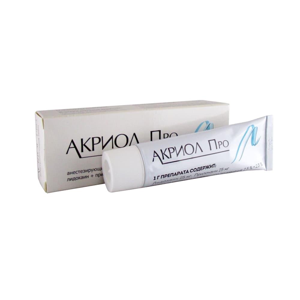 Акриол Про крем 2,5% + 2,5%, 30 гр.