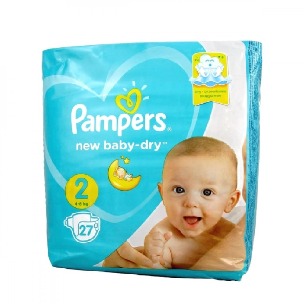 Pampers Active Baby-Dry Mini 2 подгузники 4-8кг, 27шт.