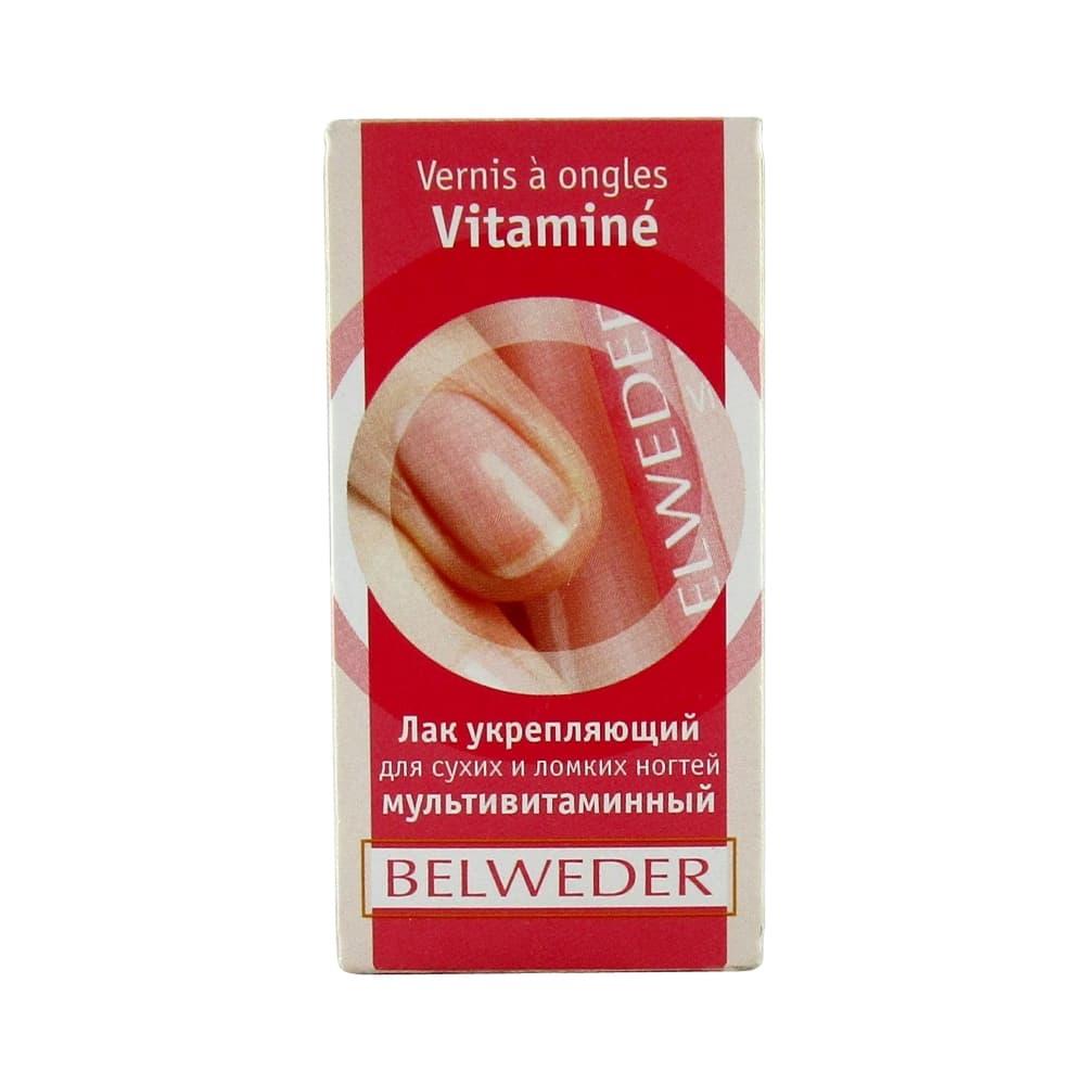 BELWEDER Лак укрепляющий для сухих и ломких ногтей мультивитаминный 8 мл.