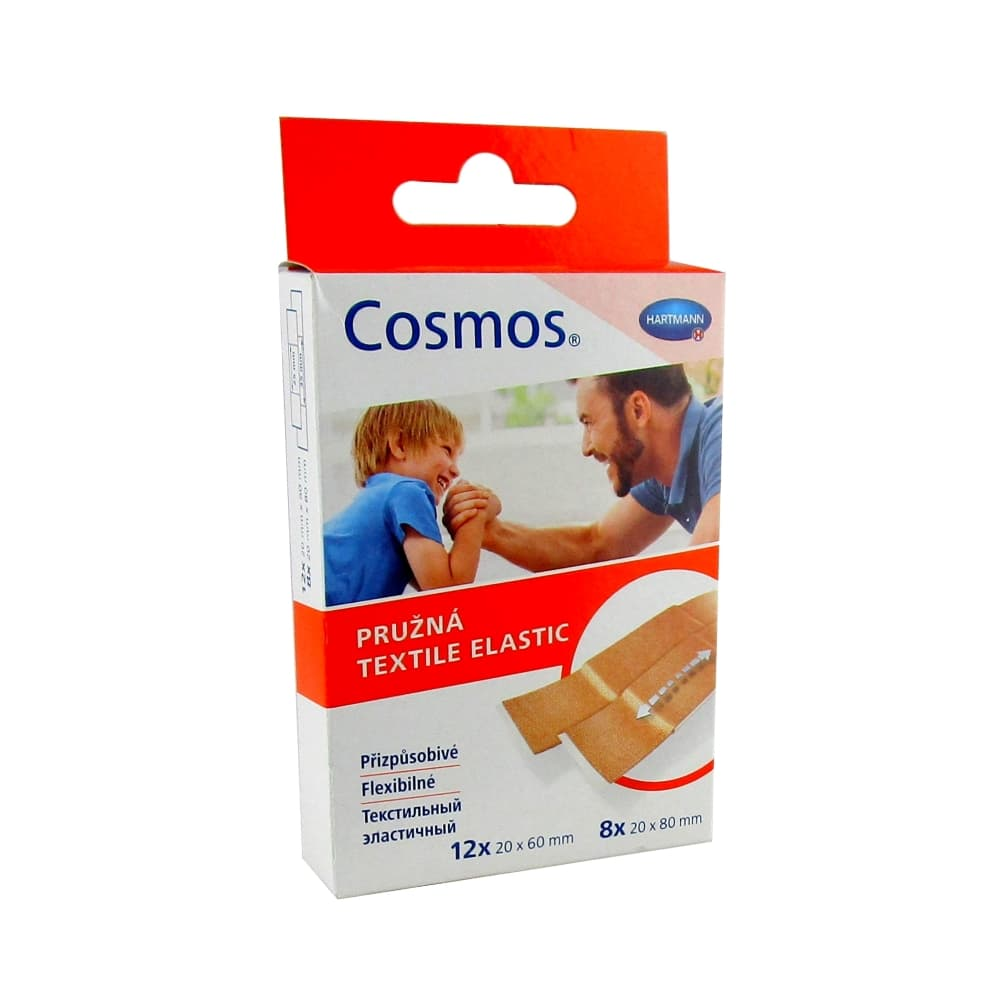 COSMOS Textile Elastic Пластырь, 2 размера, 20 шт