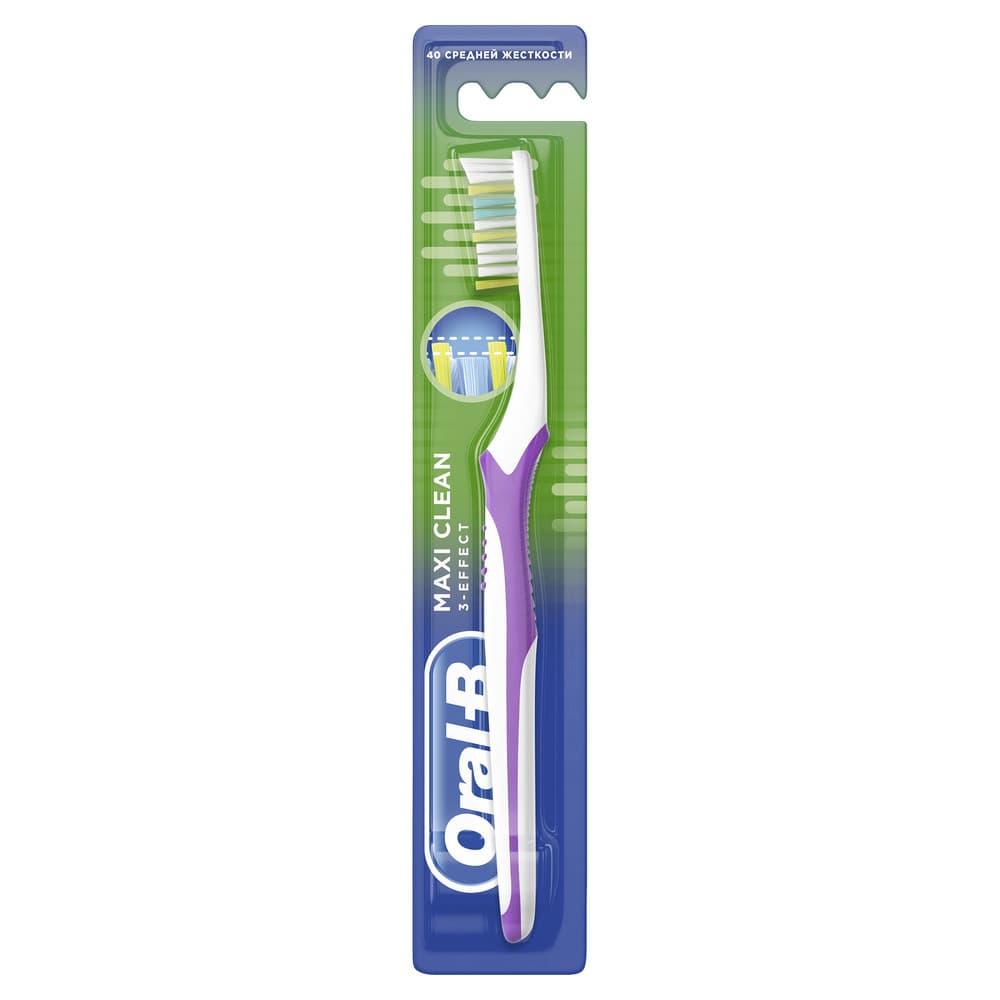 Oral-B Зубная щетка Maxi Clean, средняя