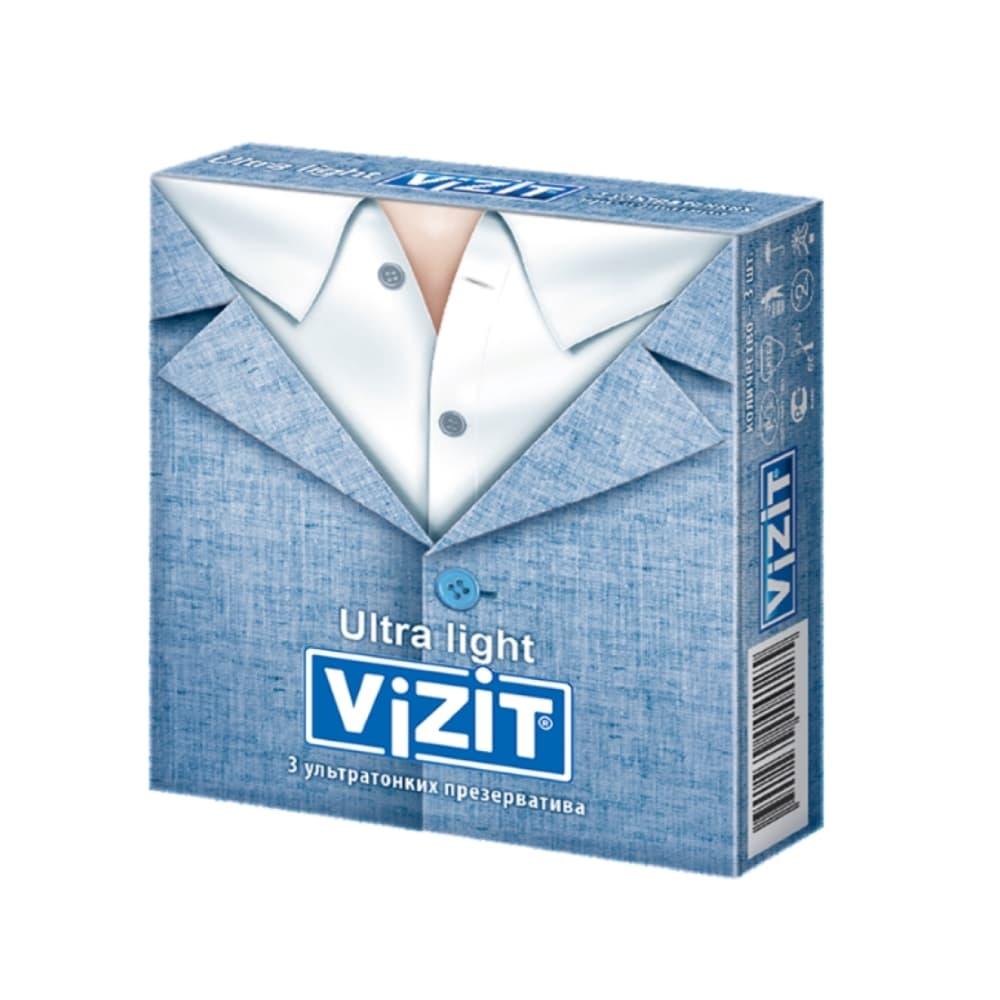 VIZIT Презервативы ультратонкие, 3 шт.