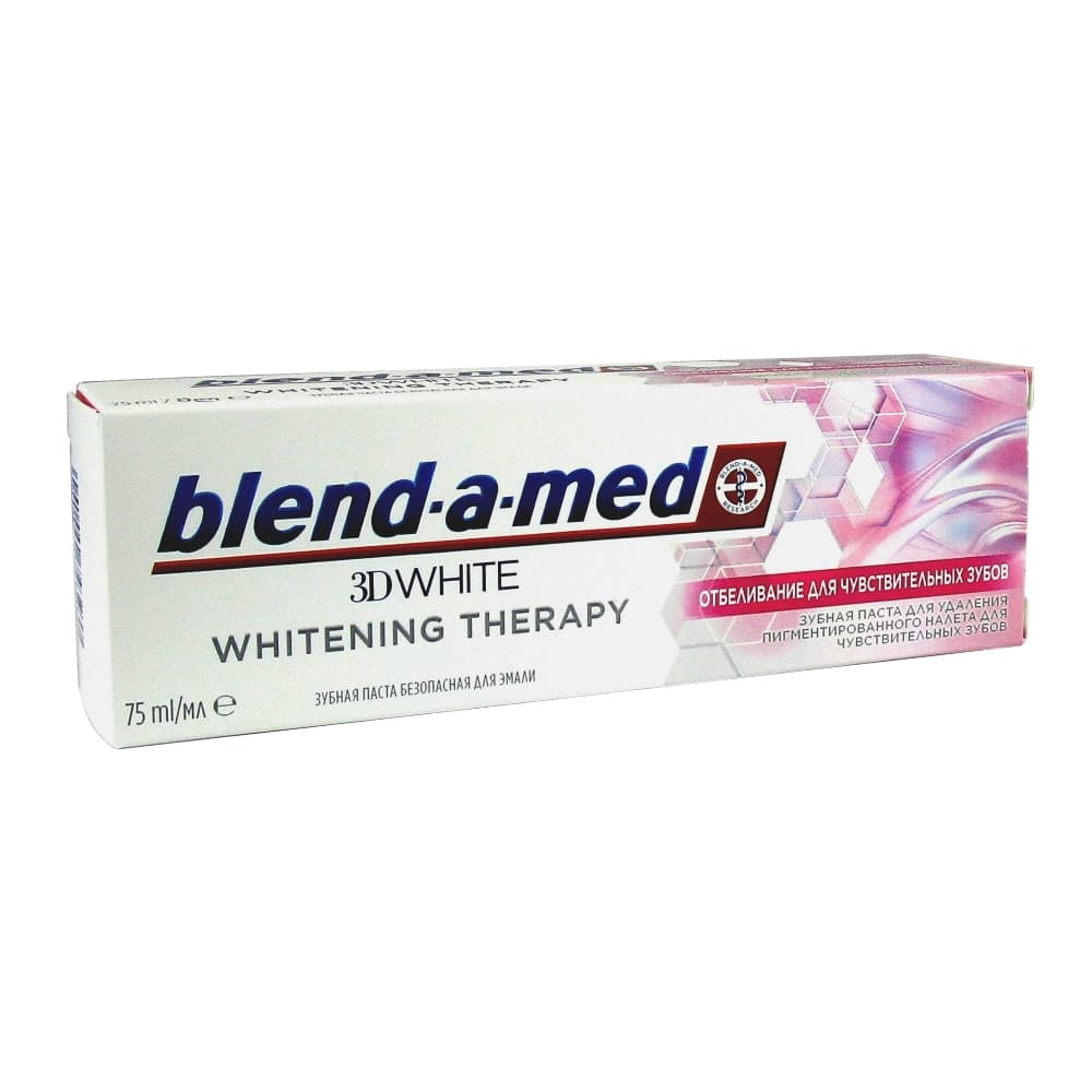 Blend-a-med з/п 3D white Whitening Therapy Отбеливание для чувств. зубов, 75 мл.