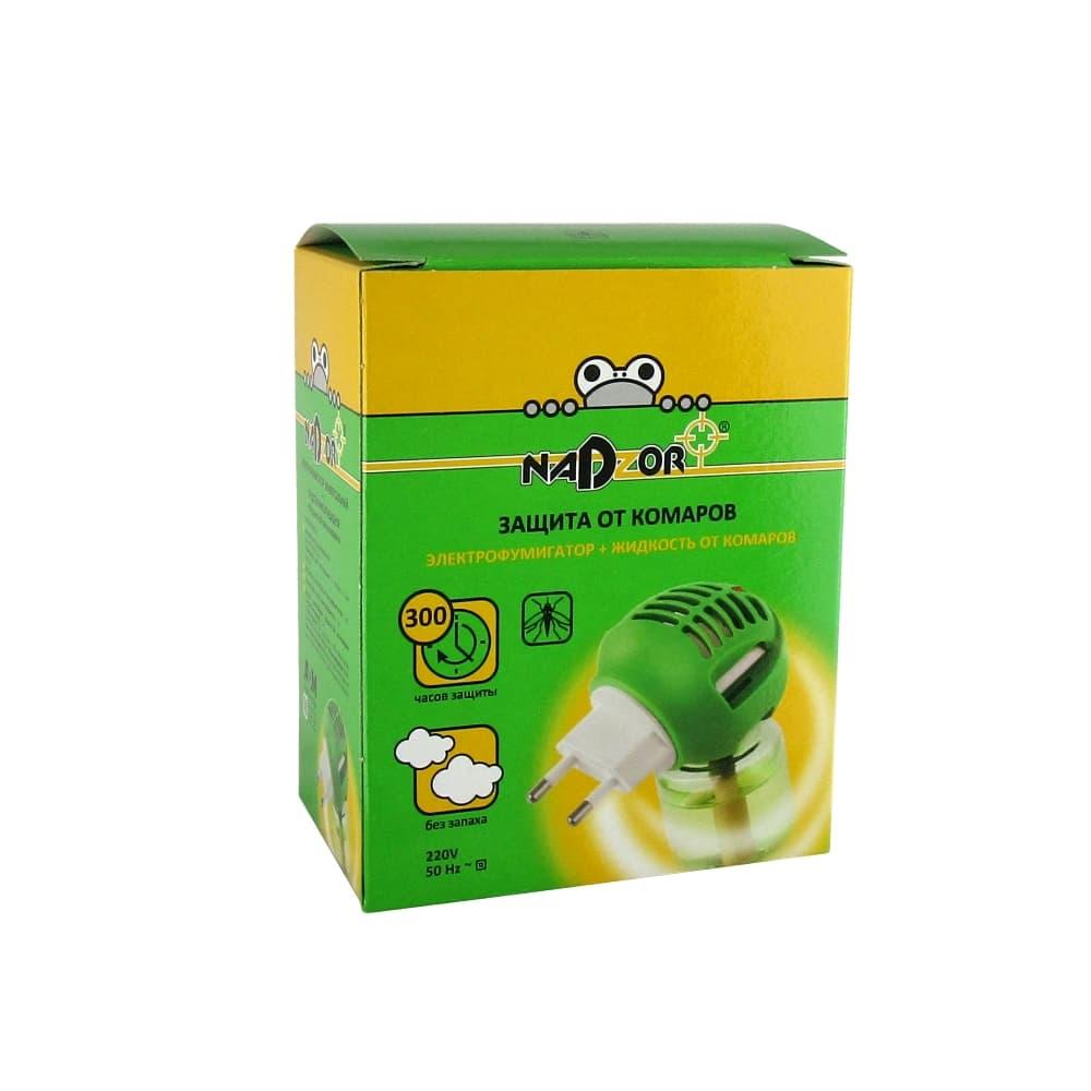 NADZOR Комплект фумигатор универсальный + жидкость на 30 ночей без запаха