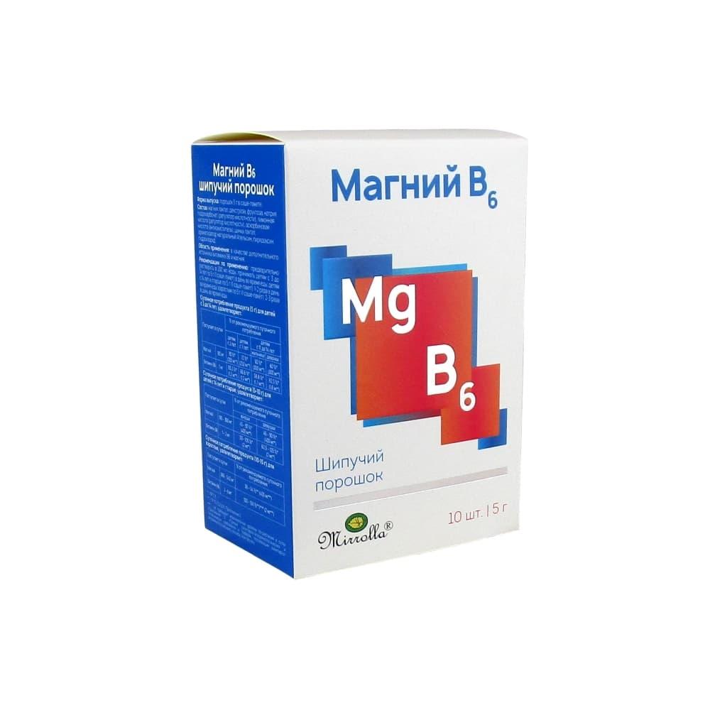 Mirrolla Магний В6 порошок в пак. 5 г, 10 шт.