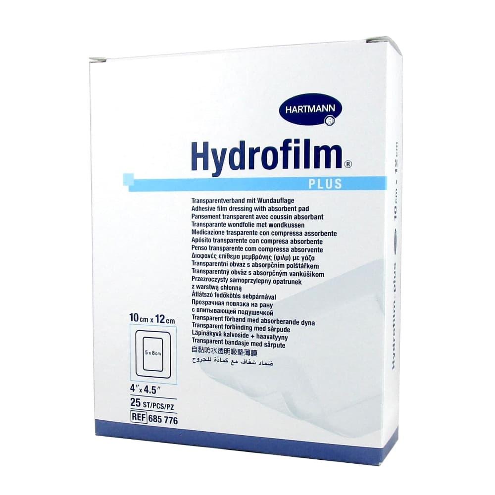 Hydrofilm plus прозрачная повязка с впитывающей подушечкой, 10х12см №25