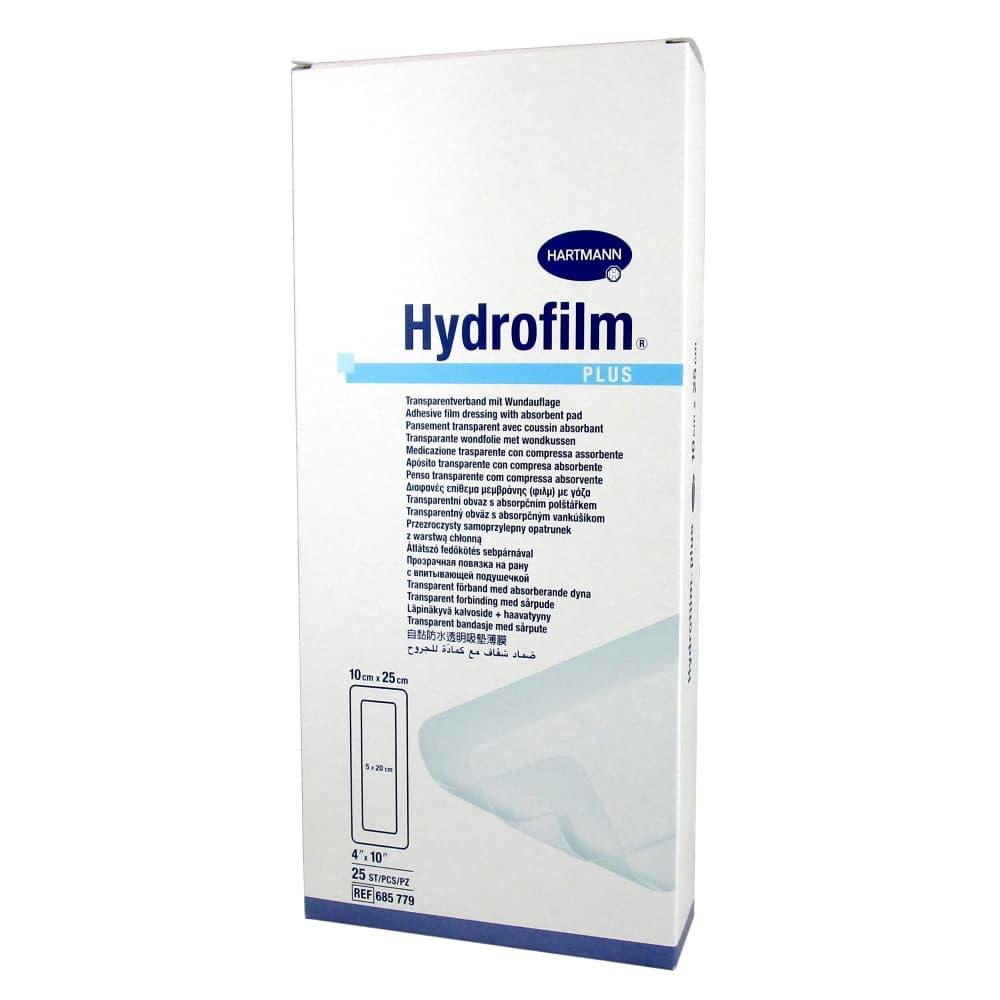 Hydrofilm plus прозрачная повязка с впитывающей подушечкой, 10х25см №25