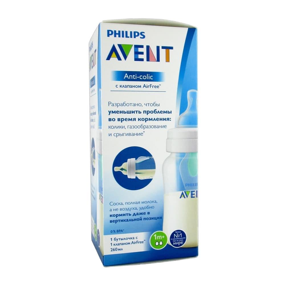 AVENT Anti-colic Бутылочка для кормления с клапаном 260мл, scf813/14