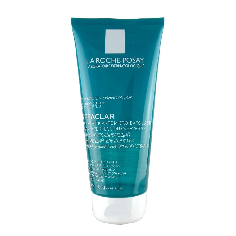 La Roche-Posay Effaclar Микроотшелушивающий очищающий гель для кожи, 200 мл