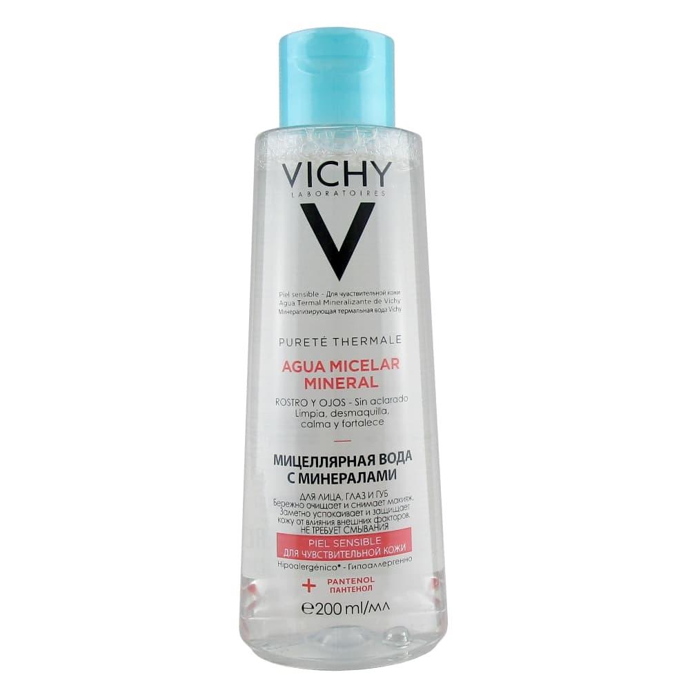 VICHY Aqua Micelar Mineral Мицеллярная вода с минералами для чувствительной кожи, 200 мл
