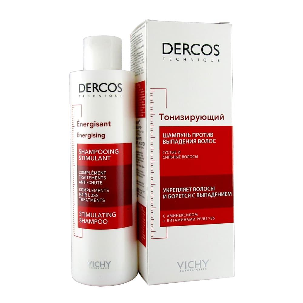 VICHY DERCOS Шапмунь тонизирующий против выпадения волос с аминексилом, 200 мл