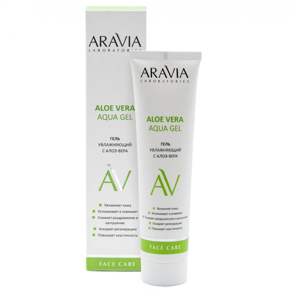 Aravia Laboratories гель увлажняющий с алоэ-вера 100 мл.