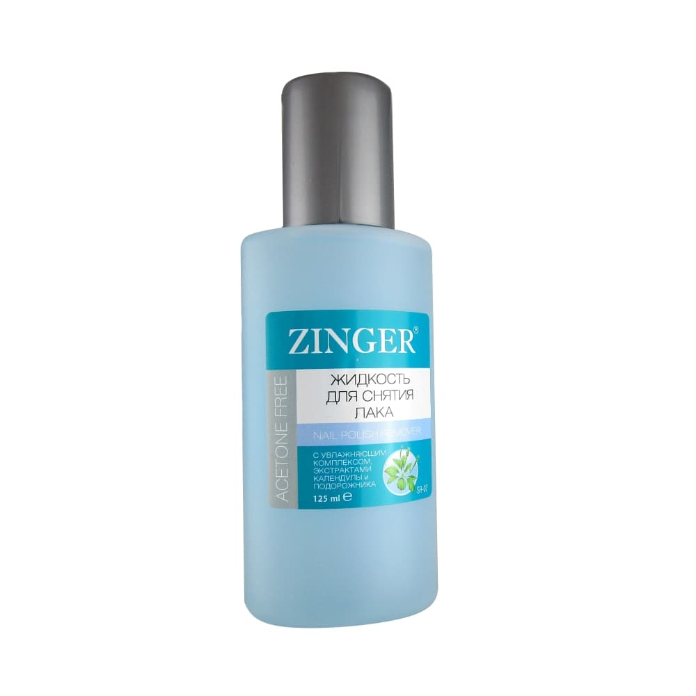 Zinger Жидкость для снятия лака, календула и подорожник, 125 мл.