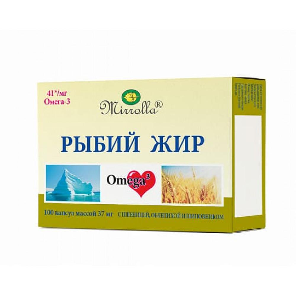 Mirrolla Рыбий жир, с пшеницой, облепихой и шиповник капсулы 100 шт.