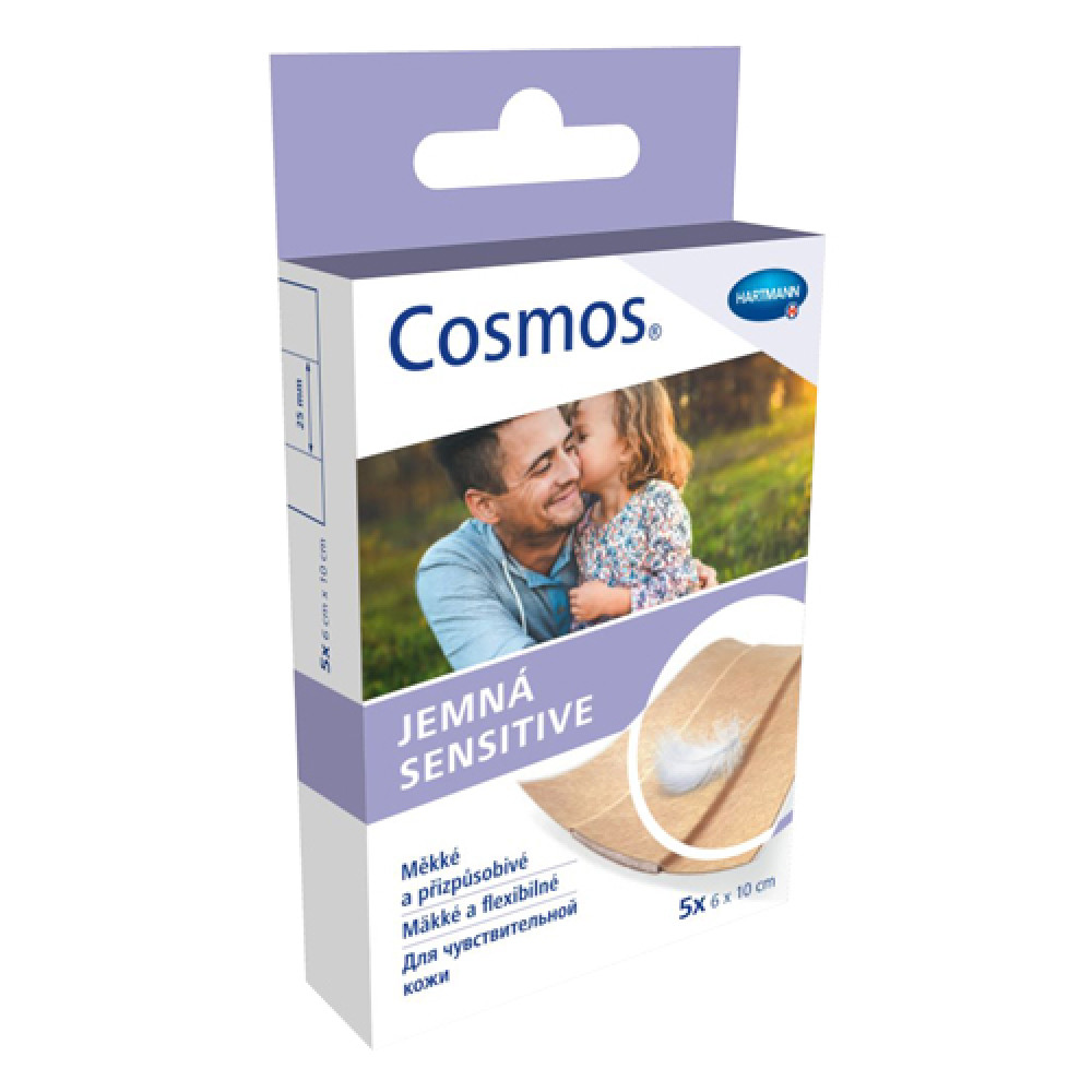 Cosmos Sensitive Пластырь для чувствительной кожи 19х72мм, 20 шт