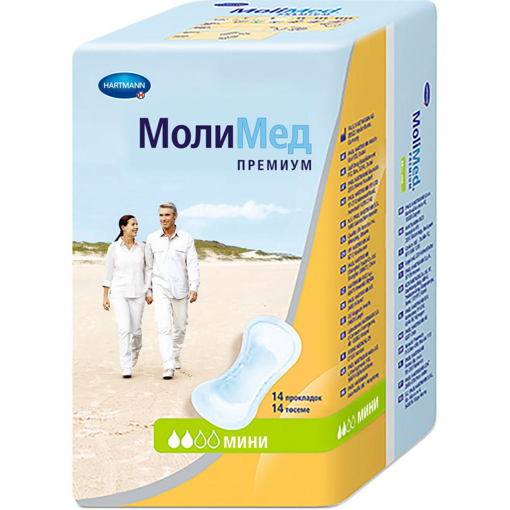MoliMed Premium mini прокладки урологические, 14шт.
